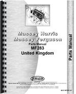Parts Manual for Massey Ferguson 283 Tractor