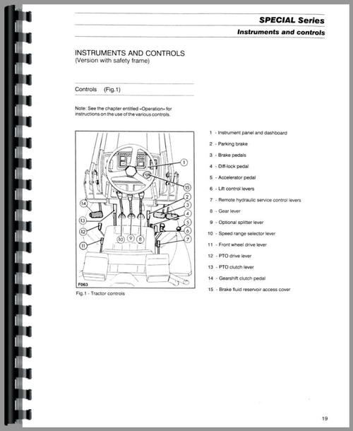 Massey Ferguson 354F Tractor Operators Manual
