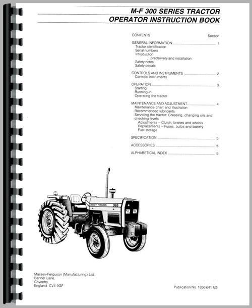 Massey Ferguson 390T Tractor Service Manual IT Shop