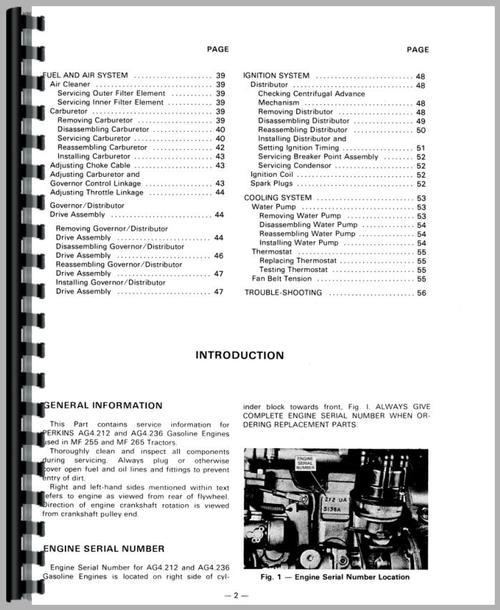 275 Massey Ferguson Parts Diagrams : Massey ferguson tractor service manual