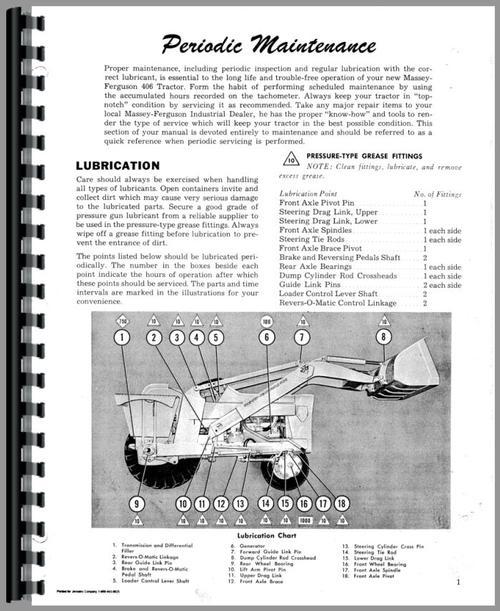 406 Massey Ferguson Tractor Technical Service Shop Repair Manual MF406
