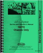 Service & Operators Manual for Michigan 180 Tractor Dozer