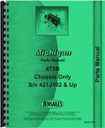 Parts Manual for Michigan 475B Wheel Loader
