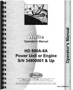 Operators Manual for Minneapolis Moline HD 800A6A Power Unit