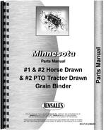 Parts Manual for Minnesota all Grain Binder #1 Horse Drawn