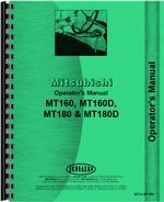 Operators Manual for Mitsubishi MT160 Tractor