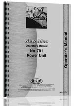Operators Manual for New Idea 701 Power Unit