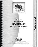 Parts Manual for New Holland 456 Sickle Bar Mower