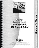 Operators Manual for New Holland 850 Baler