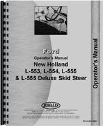 Operators Manual for New Holland L554 Skid Steer