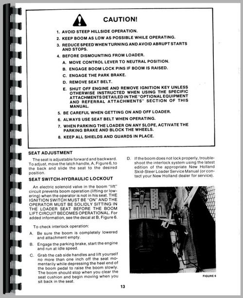 new holland l555 skid steer operators manual rh themanualstore com New Holland L555 Operators Manual New Holland L555 Deluxe