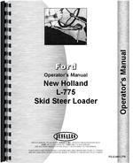 Operators Manual for New Holland L775 Skid Steer