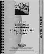 Operators Manual for New Holland L784 Skid Steer