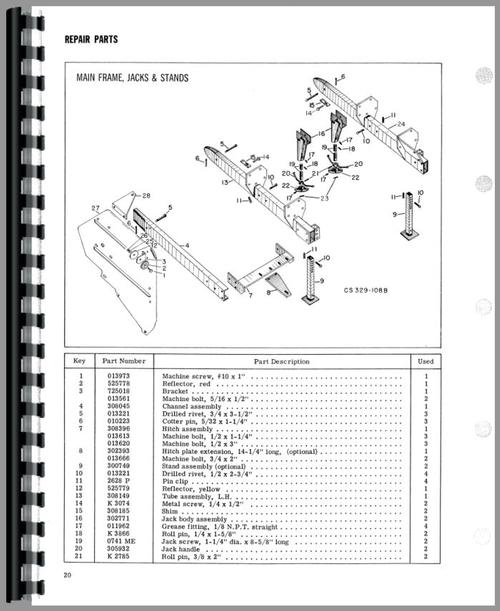 New Idea 329 Corn Sheller Operators  U0026 Parts Manual