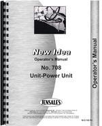 Operators Manual for New Idea 708 Power Unit