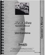 Operators Manual for New Idea 717 Combine