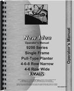 Operators Manual for New Idea 9200 Planter