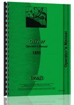 Operators Manual for Cockshutt 1850 Tractor