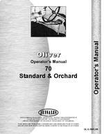 Operators Manual for Cockshutt 70 Tractor