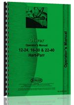 Operators Manual for Oliver (Hart Parr) Hart Parr 24-12 Tractor