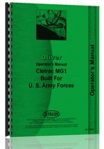 Operators Manual for Oliver MG1 Cletrac Crawler