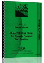 Operators Manual for Cockshutt Super 99 Tractor