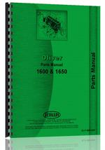 Parts Manual for Cockshutt 1600 Tractor