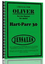 Service Manual for Oliver (Hart Parr) Hart Parr 30 Tractor