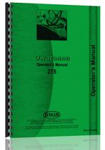 Operators Manual for Owatonna 275 Windrower