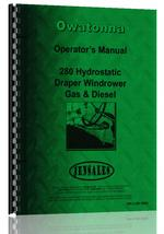 Operators Manual for Owatonna 280 Windrower