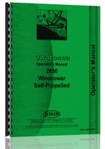Operators Manual for Owatonna 2850 Windrower