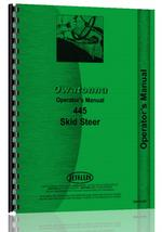 Operators Manual for Owatonna 445 Skid Steer Loader