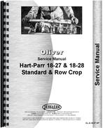 Service Manual for Oliver (Hart Parr) Hart Parr 18-27 Tractor
