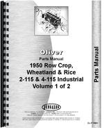 Parts Manual for Oliver (Hart Parr) Hart Parr 2-115 Tractor