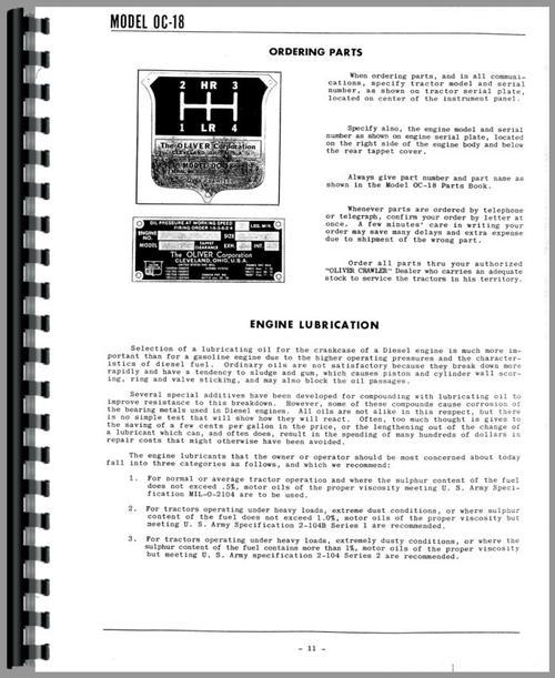 Heavy Equipment Parts & Accessories Oliver OC-46 Crawler