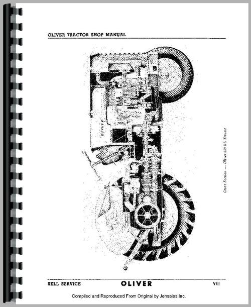 oliver super 55 tractor service manual