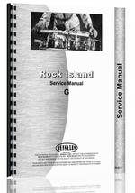 Service Manual for Rock Island G Tractor