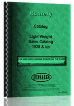 Catalog for Rumely all Light Weight Tractor 1928 Sales Catalog