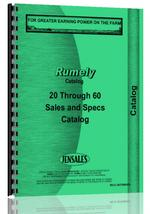 Parts Manual for Rumely 20-60 Sales Catalog