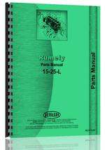 Parts Manual for Rumely 15-25-L Oil Pull Tractor