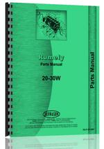 Parts Manual for Rumely 20-30-W Oil Pull Tractor