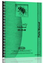 Parts Manual for Rumely 20-35-M Oil Pull Tractor