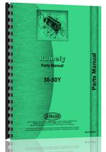 Parts Manual for Rumely 30-50-Y Oil Pull Tractor