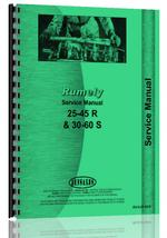 Service Manual for Rumely 30-60-S Oil Pull Tractor