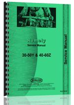 Service Manual for Rumely 40-60-Z Oil Pull Tractor