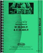 Service Manual for Rumely 20-30-W Oil Pull Tractor