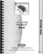 Parts Manual for Rumely 6-A Oil Pull Tractor