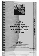 Operators Manual for Same Saturno 80 Tractor