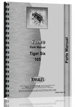 Parts Manual for Same Tiger Six 105 Tractor