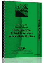 Operators Manual for Steiger all  Quick Reference Manual